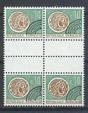 France 1964 Sc# 1096 Gallic coin gutter block 4 MNH