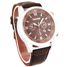 THAITIME Men Fashion Quartz Business Auto Date Waterproof Wrist Watch with case