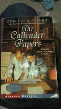 The Callender Papers, Voigt, Cynthia, Good Book first edition paperback