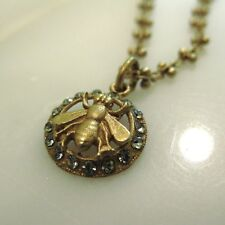 NWT La Vie Parisienne Gold Crystal Bee Pendant Necklace Embellished Chain 1277G