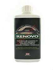 Renovo Soft Top Canvas Cleaner, 500ml Deep Cleaning Action for Convertible Hoods