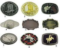 Floral Aztec Design Belt Buckle Men Metal Cowboy Texas Usa Rodeo Western Fashion