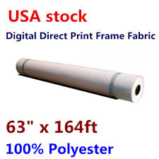 """New listing 250gsm 63"""" x 164ft Digital Direct Print Frame Fabric 100% Polyester Us stock"""