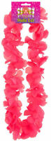 Hot Pink Hawaiian Flower Lei - 100cm -  Luau Tropical Garland Hen Party