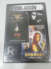CYBORG 2 + EL CUERVO ANGELINA JOLIE VINCENT PEREZ DVD SLIM ESPAÑOL NUEVA
