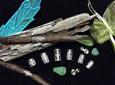 Dreadlock Beads x 8 ** STUNNING SILVER MIX PACK** 5-6mm Hole Size Popular Styles