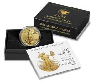 U.S. Mint American Eagle 2021 One Ounce Gold Uncirculated Coin