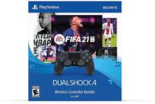 Sony PlayStation 4 DualShock 4 Wireless Controller Black with EA FIFA 21 Bundle