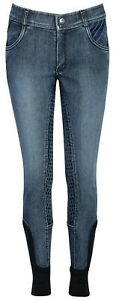 Harry's Horse Kinder-Reithose LouLou Bowhill Full Grip Stretch Denim