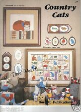 Country Cats  -  Cross Stitch, soft cover book