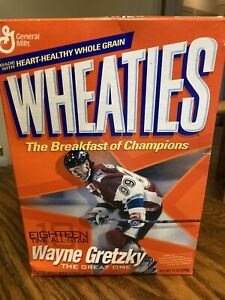 WHEATIES WAYNE GRETZKY UNOPENED Cereal Box (2003) General Mills NY Rangers