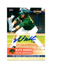 Nate Mondou 2017 Midwest League All Star auto signed card Beloit Snappers
