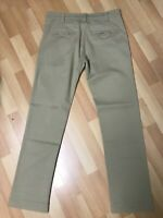 EXCNT Mens Armani JEANS STRETCH CHINO JEANS GOLF TROUSER BEIGE SLIM W33 L32 H7.5