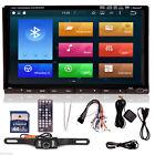 "HD 2Din 7"" GPS Touch Bluetooth Car Dash Stereo DVD SD iPod Player Radio+Camera"