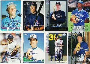 lot of 15 autographed SIGNED TORONTO BLUE JAYS cards w/ VERNON WELLS JOSE CRUZ