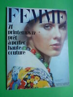 Femme Fashion Magazine Printemps 1972 Spring Pret IN Porter Haute Couture Rare