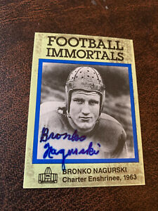 Double signed1985 Football Immortals Bronko Nagurski Chicago Bears 🐻
