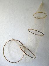 Deko Fischernetz Reuse 135cm x 36cm 4 Bambusringe + Muschelset