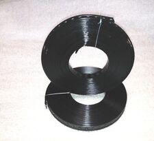 1 bockrolle (10 m) bande perforée 27 mm / acier - enduit de plastique noir