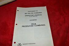 Massey Ferguson 410 510 Combine Operator's Manual Supplement HMPA