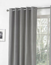 Bargain Price Plain Eyelet Curtains Fully Lined. Sorbonne Charcoal