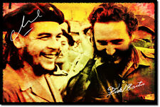 CHE GUEVARA AND FIDEL CASTRO ART PHOTO POSTER GIFT