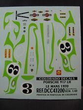 DECALS 1/43 PORSCHE 917 LH #3 LE MANS 1970  - COLORADO  43200
