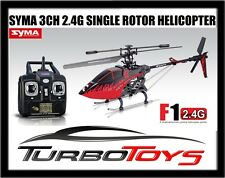 NEW - SYMA F1 3CH 2.4G OUTDOOR HELICOPTER - SINGLE ROTOR - FIERY RED - RTF -