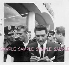 ELVIS PRESLEY  SET OF TWO AUTOGRAPHS SIGNINGS WITH FANS 1960`S SNAPSHOTS