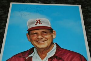 """PAUL """"BEAR"""" BRYANT AUTOGRAPHED 8"""" x 10"""" PHOTO!!! MUST SEE!!!"""