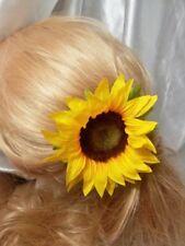 Sunflower Yellow Artificial Hair Flower Clip