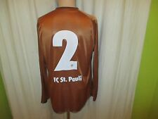 FC St.Pauli Original Langarm Junioren Matchworn Trikot 2010/11 + Nr.2 Gr.L