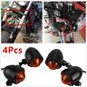 Full Metal Bullet Turn Signal Indicator Light Lamp Bulb For Harley Bobber  4Pcs
