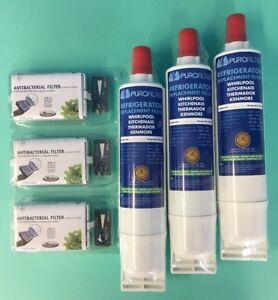 3 X Filtre à Eau + Hygiénique SBS001 SBS002 Bauknecht Side Par Side WF004