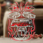"""Aircooled family sticker decal beetle bug bus pinstripe MOONEYES red 6.75"""""""
