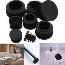 10x Black Plastic Blanking End Caps Cap Insert Plugs Bung For Round Pipe Tube LJ