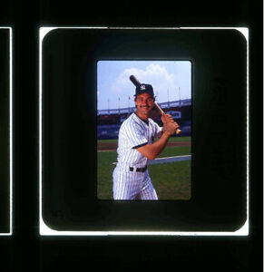 1984 DON MATTINGLY 35mm NEGATIVE SLIDE--VERY YOUNG YANKEES STAR--REAL NICE POSE