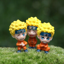 3 Pcs/set Anime Naruto Uzumaki DIY Figure Model Garden Ornament Toy Gift Fashion