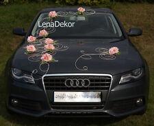 Matrimonio Decorazione Auto Nastro Fiocchi Ballo Limusine Decorazione,L Rosa