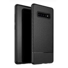 AMZER Carbon Fiber Texture TPU Case for Samsung Galaxy S10+ - Black