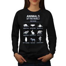 Wellcoda Animals Funny Cute Womens Sweatshirt, Biology Casual Pullover Jumper