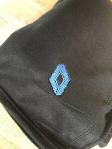 Black  Fleece Blanket With Embroidered Renault Style  Logo
