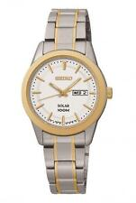 Seiko Gold Plated Case Stainless Steel Strap Wristwatches