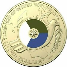 2020 75th Anniversary The End of WW2 - $2 Dollar UNC Coin