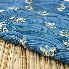 "Blue ""Waves"" Japanese Oriental Fabric Cotton Fat Quarter FQ #F0040"