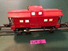 American Flyer Lines S Train 630 Red w/Black Base Lighted Caboose w/Link Lot O