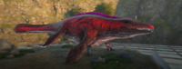 ark survival evolved XBOX PVE 274 Male Mosa Red/Black CLONE with Saddle