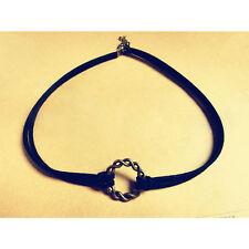 90's Black Velvet Charm Choker Necklace Gothic Punk Handmade Retro Jewelry 1pc