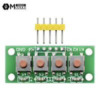 DIY 5Pin 1x4 4 Keys Button Keypad Keyboard Breadboard Module for Arduino