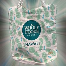 Whole Foods Hawaii Eco Friendly Shopping Rope Tote beach Bag Hawaiian Pineapple